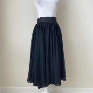 Eshakti black  layered skirt with pockets!